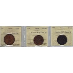 Lot of Three ICCS Graded Tokens