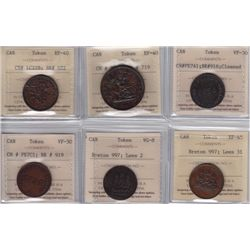 Lot of Six ICCS Graded Tokens