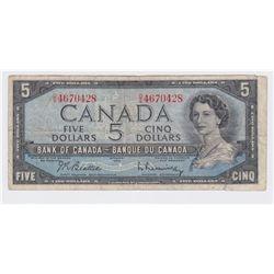 1954 Bank of Canada $5 Folding Error