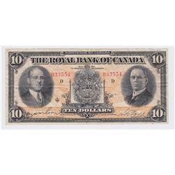 1933 Royal Bank of Canada $10