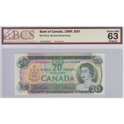 1969 Bank of Canada $20 Replacement