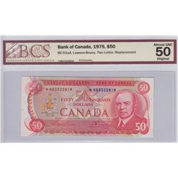 1975 Bank of Canada $50 Replacement