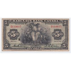 1935 Barclays Bank $5