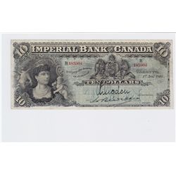 1910 Imperial Bank of Canada $10