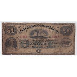 1867 Union Bank of Newfoundland £1