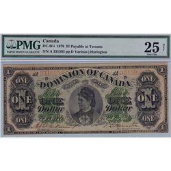 1878 Dominion of Canada $1