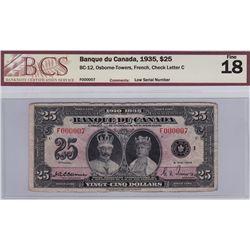 1935 Banque du Canada $25