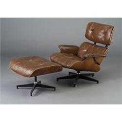 Swell Charles Eames For Herman Miller Walnut Veneer Lounge Chair Uwap Interior Chair Design Uwaporg
