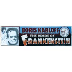 Original Bride of Frankenstein Silkscreened Theatrical Banner