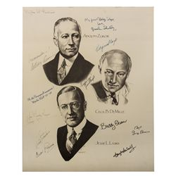"Jesse Lasky Cecil B. DeMille Paramount ""Hollywood Barn"" Poster Signed by 12 Stars"