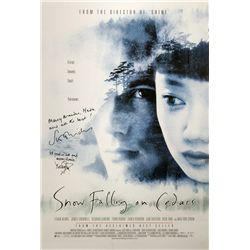 Snow Falling on Cedars Signed Poster
