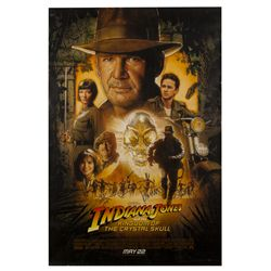 Indiana Jones and the Kingdom of the Crystal Skull Signed Poster