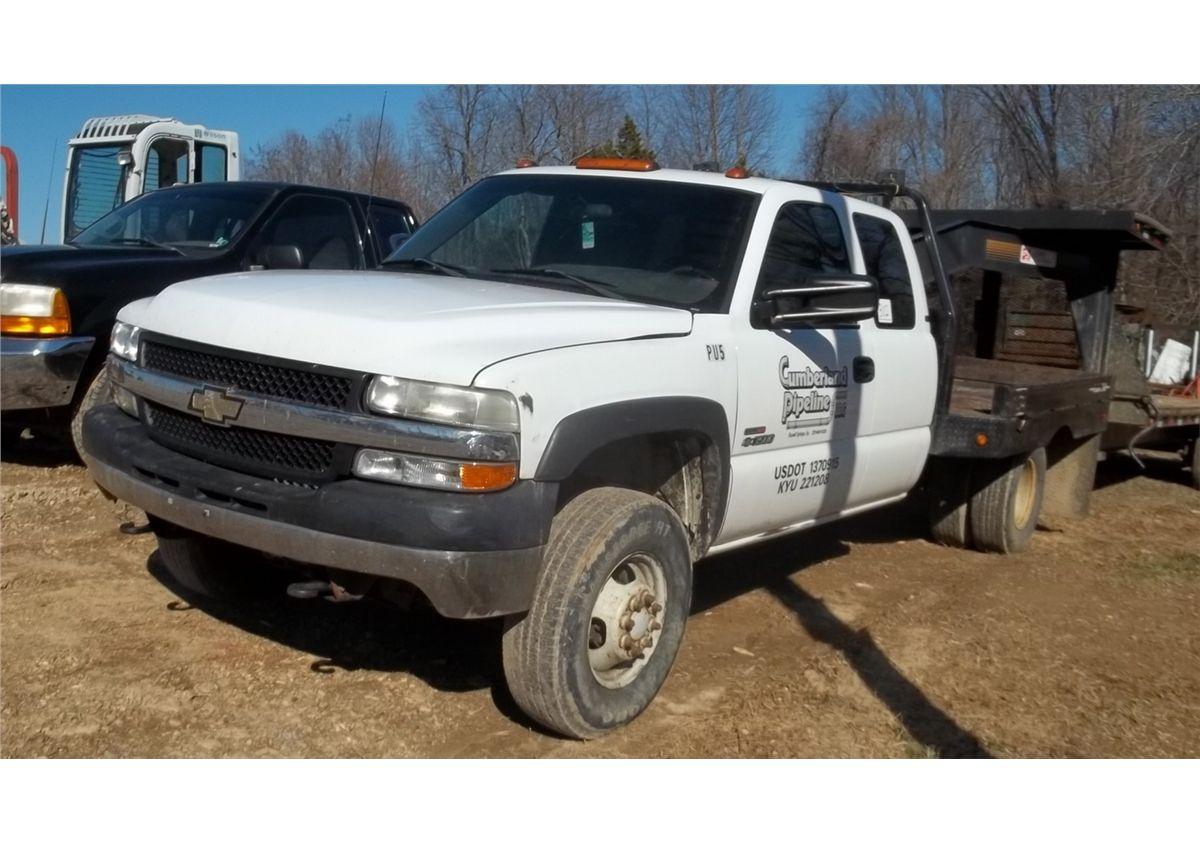 2002 Chevy 3500 Duramax Flatbed Truck