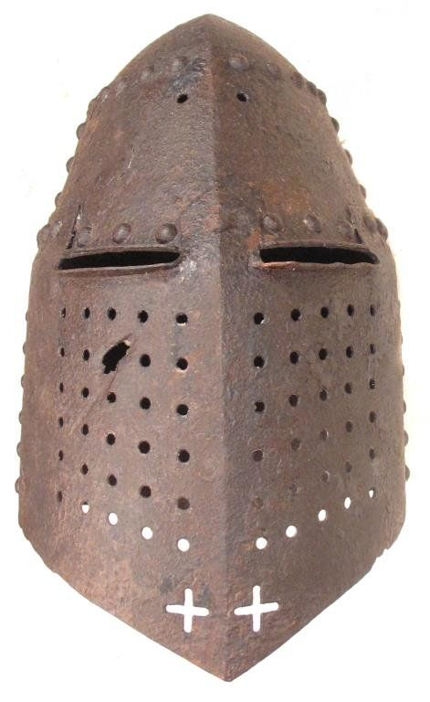A VICTORIAN COPY OF A GREAT HELM
