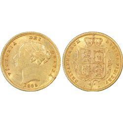1883-S ½ Sovereign PCGS AU53