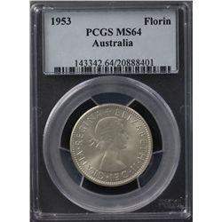 1953 Florin PCGS MS64