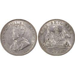 1933(m) Shilling PCGS AU50