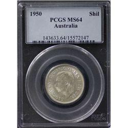 1950 Shilling PCGS MS64