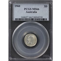 1960 Threepence PCGS MS66