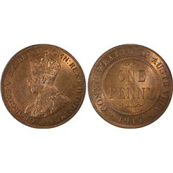 1917-I Penny PCGS MS63RB