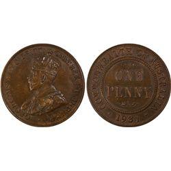 1931(m) Penny PCGS AU58