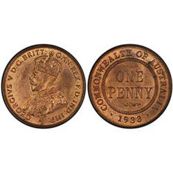 1933(m) Penny PCGS MS64RB