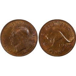 1943(p) Penny PGCS MS64BN