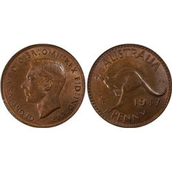 1947(m) Penny PCGS MS64BN