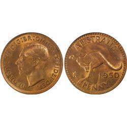 1950(m) Penny PCGS MS64RD