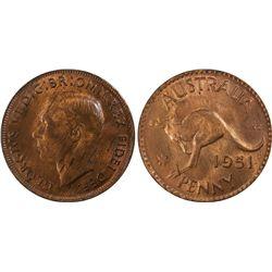 1951(m) Penny PCGS MS63RB