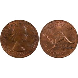 1953(m) Penny PCGS MS63RB