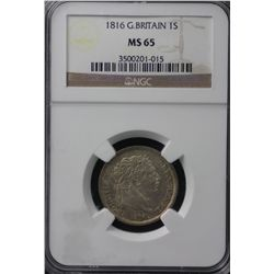 1816 Great Britain Shilling NGC MS65