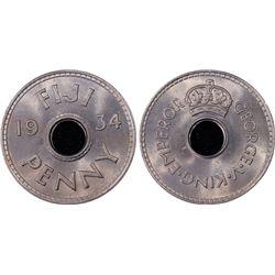 1934 Fiji ½ Penny PCGS MS66