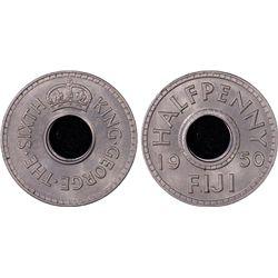1950 Fiji ½ Penny PCGS MS66