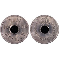 1936 Fiji Penny PCGS MS66