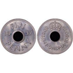 1937 Fiji Penny PCGS MS66