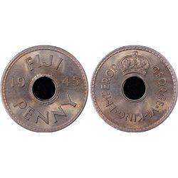 1945 Fiji Penny PCGS MS65