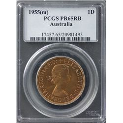 1955(m) Proof Penny PCGS PR65RB