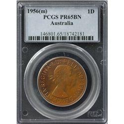 1956(m) Proof Penny PCGS PR65BN