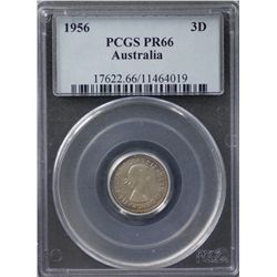 1956 Threepence Proof PCGS PR66