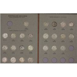 Complete set of Australian Shillings