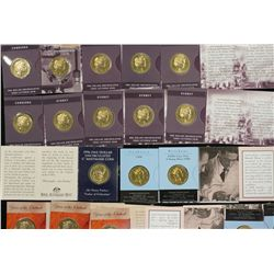 $1 Coins 1996C x 5, 1998B, 1998C, 2002B x 3, 1998B x 2, 2000S x 5 and 2000C x 5