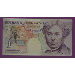 Bank of England 20 Pound Notes