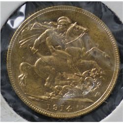 Sovereign 1914M Choice Uncirculated