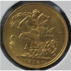 Sovereign 1918S Choice Uncirculated