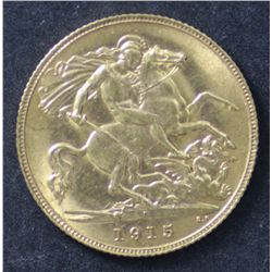 1915 Perth Half Sovereign Choice Uncirculated