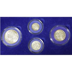 1944-S Uncirculated Set, 3 Pence, 6 Pence, Shilling , Florin, Great 70th Birthday gift
