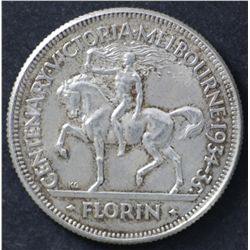 1934/35 Melbourne Centenary Florin, Choice Uncirculated