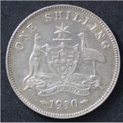 1910 Shilling and 1918 Shilling Extremely Fine