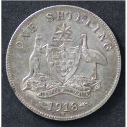 Australia 1916, 1917 & 1918 Shillings VF or a little better